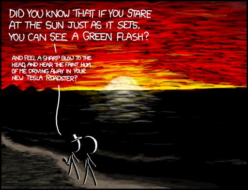 Green Flash XKCD Rayon Vert
