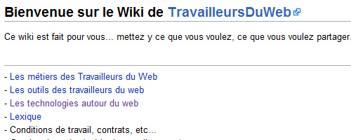 Travailleurs du web : accueil du wiki