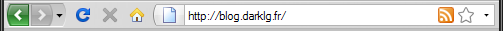 Barre d'adresses Firefox