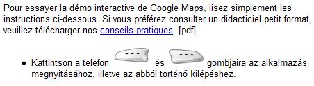 Google Maps Mobile Franco Hongrois