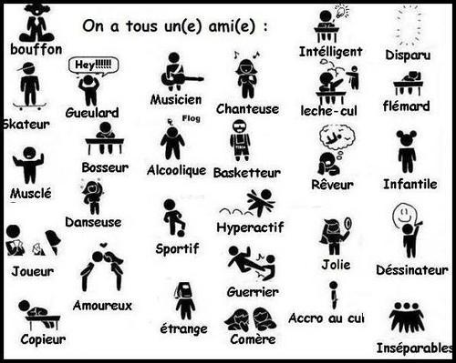 On a tous un ami Bouffon, Skateur, Gueulard, chanteuse, musicien, alcoolique, amoureux ...
