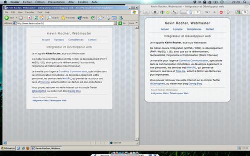 D'Internet Explorer 6.0 à Firefox 3.6